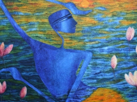 Krishna IXOil on Canvas48x36 inches